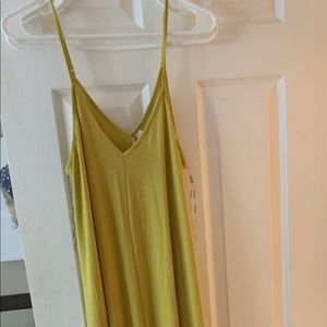 Zenana premium medium yellow dress